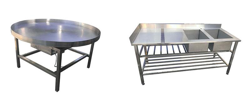 Изделия из нержавейки на заказ столы